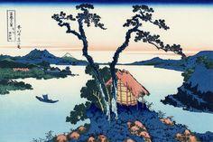 Lake Suwa in the Shinano province - Katsushika Hokusai