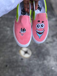 """The Spring"" Custom Nike Air Force 1 Custom Vans Shoes, Vans Slip On Shoes, Custom Painted Shoes, Painted Vans, Custom Made Vans, Custom Slip On Vans, Customised Shoes, Boy Shoes, Flat Shoes"