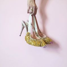 No need to wait for the 4th of July for a firework celebration! Starting the celebration early with these Rochas fringed slingback heels (shop them on Moda Operandi now!)