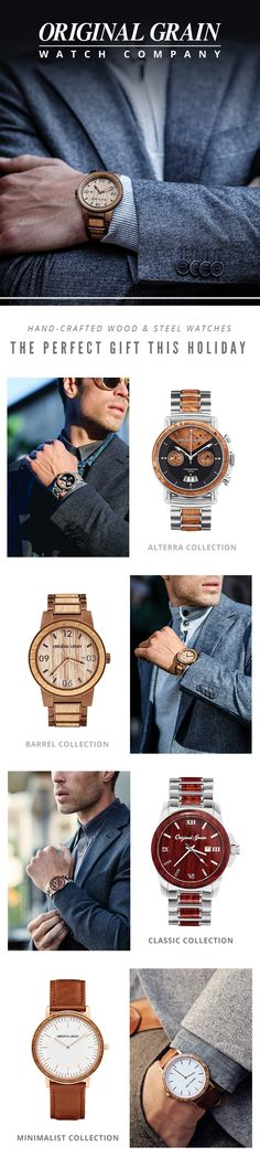 The perfect gift for the perfect gentleman, our watches make a style statement that will complete any wardrobe. A unique timepiece for any occasion - Free shipping worldwide ... #Mens #Fashion #MensFashion #Watch #Timepiece #Design