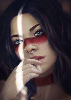 Warrioress, Marta G. Villena on ArtStation at https://www.artstation.com/artwork/9kJ4N?utm_campaign=notify&utm_medium=email&utm_source=notifications_mailer