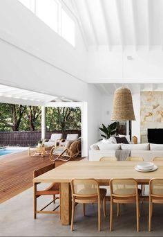 Boho Living Room, Living Spaces, Modern Coastal, Modern Cottage, Coastal Style, Coastal Homes, Home Interior Design, Coastal Interior, Beach House