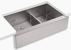 Upgraded Kitchen Sink - Farmhouse Sink in Stainless with Double Bowl