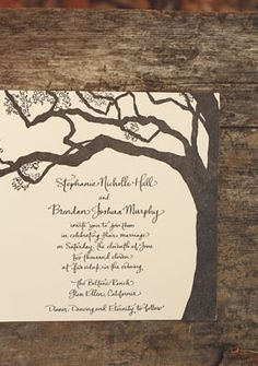stationery, letterpress, almond, caligraphy, corn silk, invitations, latte, rustic, trees, woodland, paper