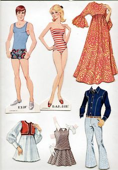 #paper dolls #Barbie