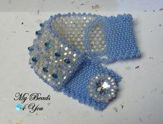 Peyote Beaded Bracelet Beadwoven Cuff Bracelet by mybeads4you Will make a great Mothers Day gift!