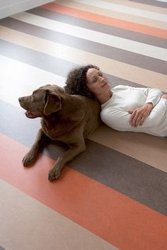 Marmoleum flooring a natural linoleum is extremely durable, available in a large variety of colors and – is eco-friendly. The linoleum is composed of renewable materials: linseed oil, pine tree rosin, wood flour, jute and eco friendly