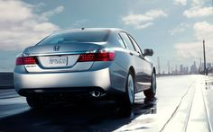 2013 Honda Accord. We've upgraded the 4-cylinder and the V-6 engines under the hood to optimize performance and efficiency