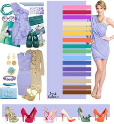 The color combination of clothes Color Combinations For Clothes, Color Combos, Lilac Color, Magenta, Lavender Color, Purple Yellow, Mint Green, Fashion Advice, Fashion Outfits