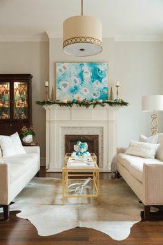 Christmas White Living Room  Beautiful Holiday House Tour Living Room  White, Beautiful Living Rooms