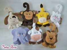 adorable felt animals
