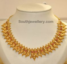 Traditional Mango Necklace ~ Latest Jewellery Designs