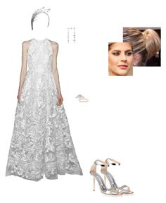 """""""Untitled #8538"""" by gracebeckett on Polyvore featuring TIARA, Blue Nile and Manolo Blahnik"""