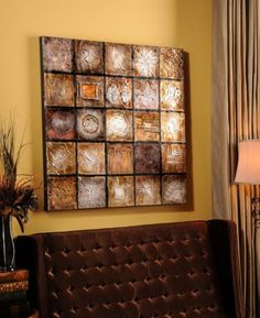 Charring Tile Canvas Plaque #kirklands #glam+chic