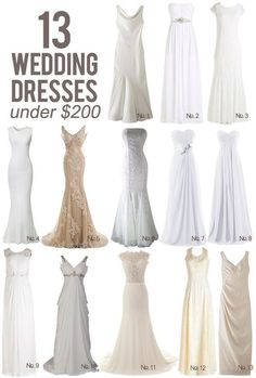 13 Wedding Dresses Under $200 || Kiss My Tulle