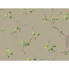 60.75 sq. ft. Casabella II Leaves Sidewall Wallpaper, Concrete Grey/Sprout Green/Moss Green/Meadow Green/Brown