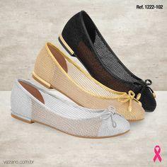Lançamento da Vizzano Clássicas e cheias de estilo, as sapatilhas são perfeitas para acompanhar você em qualquer estação. Qual sua cor preferida? facebook.com/loucasporsapatos.br