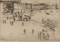 The Riva, No. 2 Artist: James McNeill Whistler