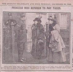 Sophia Duleep Singh 1913. No Vote, No Tax.
