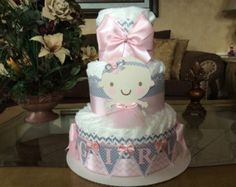 Boy diaper cake/lamb diaper cake/Grey chevron by InspiredbyElena