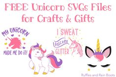 Free Unicorn SVG Graphics and Cut Files