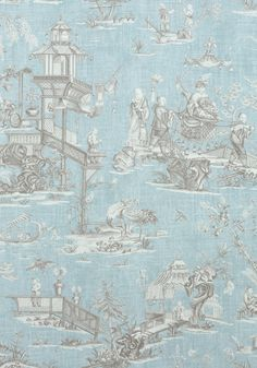 CHENG TOILE, Robin's Egg, F975468, Collection Dynasty from Thibaut