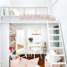 Beautiful Girls Bedroom Ideas For Small Rooms (Teenage Bedroom Id . - Beautiful girls bedroom ideas for small rooms (teen bedroom ideas for girls) - Girl Bedroom Designs, Room Ideas Bedroom, Small Room Bedroom, Bedroom Loft, Diy Bedroom, Tiny Girls Bedroom, Bedroom Ideas For Teen Girls Small, Grown Up Bedroom, Master Bedroom
