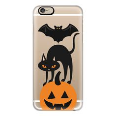 iPhone 6 Plus/6/5/5s/5c Case - Bat, cat pumpkin totem ($40) ❤ liked on Polyvore featuring accessories, tech accessories, iphone case, iphone cover case, apple iphone cases, slim iphone case and cat iphone case