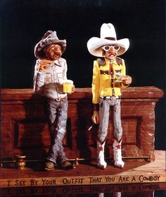 """I see by your outfit you are not a cowboy"" from artist Gene Zesch"