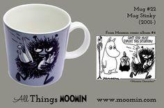 Moomin mug - Stinky by Arabia - Moomin Moomin Mugs, Geek Stuff, Trays, Tableware, Den, Cups, History, Geek Things, Dinnerware