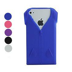 προστατευτικά ρούχα μοτίβο μαλακή θήκη TPU για το iPhone 4 / 4S – EUR € 2.75