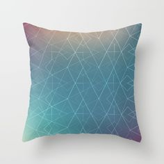 Blurred Geometry Throw Pillow