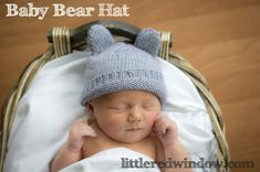 Baby Bear Hat Free Knitting Pattern by  Little Red Window  #crafts #knitting #newborn #baby shower