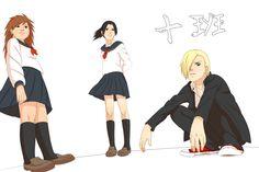 Konoha High School - Team 10(gender-bender) by steampunkskulls.deviantart.com on @deviantART