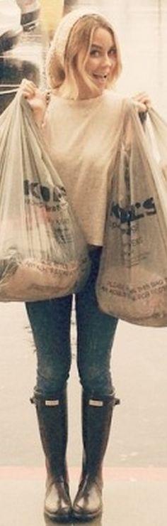 Who made  Lauren Conrad's black rain boots?