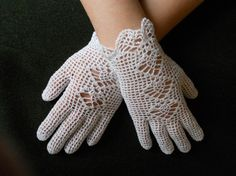 Single-handedly bringing back lady's white lace and crocheted gloves for the Spring, especially on Easter Sunday :)