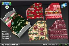 Blackys Sims 4 Zoo: Christmas huts covering bed by weckermaus • Sims 4 Downloads