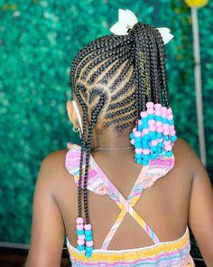 Children Braided Hairstyles, Black Kids Braids Hairstyles, Natural Braided Hairstyles, Natural Hairstyles For Kids, Natural Hair Styles, Braid Styles For Kids, Black Girl Braid Styles, Black Girl Braids, Braids For Black Hair