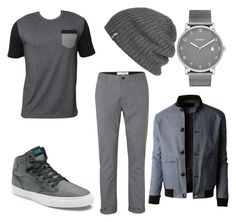 Grey for a day by slashbat on Polyvore featuring polyvore, Billabong, Topman, LE3NO, Skagen, Outdoor Research, Vans, men's fashion, menswear and clothing