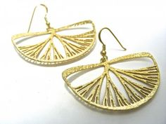 Silver Pierced earring (Gold-plating)  樹形ピアス