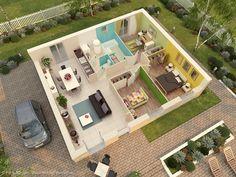 Maison De Plain Pied De 77 M² Composée Du0027un Séjour + Cuisine De