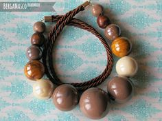 handmade necklace from ceramic beads