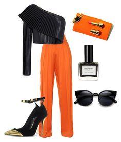 """Pop of Orange!"" by rachel-w14 on Polyvore featuring Balmain, women's clothing, women's fashion, women, female, woman, misses and juniors"