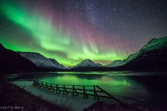 Northern lights overs Tromso, Norway