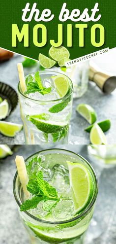 What your next football party needs! This classic mojito recipe is the BEST. Thanks to a homemade simple syrup, this game day drink is a showstopper. Prepare this easy cocktail by the glass or in a pitcher for a crowd!