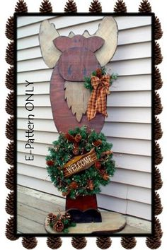 Michael Moose, Christmas welcome sign. too cute!