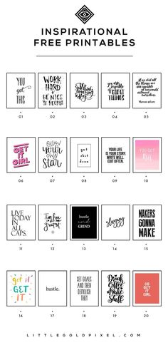 20 Inspiring Printables for 2018 is part of Wall printables - In which I round up 20 inspiring printables for girl bosses to help you reach all your goals in 2018 Print, hang in your office and glance up when you need a little push to be productive Decoration Ikea, Office Decorations, Diy Inspiration, Wall Art Quotes, Quote Wall, Printable Wall Art, Girl Boss, Planer, Free Printables