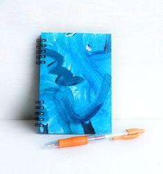 Notebook  Blue Hand painted original blue cover por kinmcuadernos, €11.00