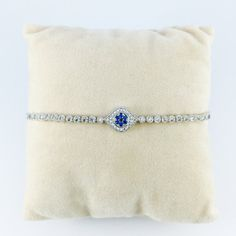 Evil Eye Bracelet, CZ in White Gold, Evil Eye Charm Bracelet Cubic Zirconia TRENDY Lariat Closure, Protection Bracelet