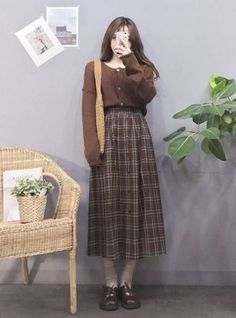 Skirt outfits vintage fashion 49 Trendy ideas - Fits your own style . - Skirt outfits vintage fashion 49 Trendy ideas – fits your own style instead of hours of preparati - Korea Fashion, Asian Fashion, Look Fashion, New Fashion, Womens Fashion, Fashion Trends, Vintage Fashion Style, Retro Style, Fashion Ideas